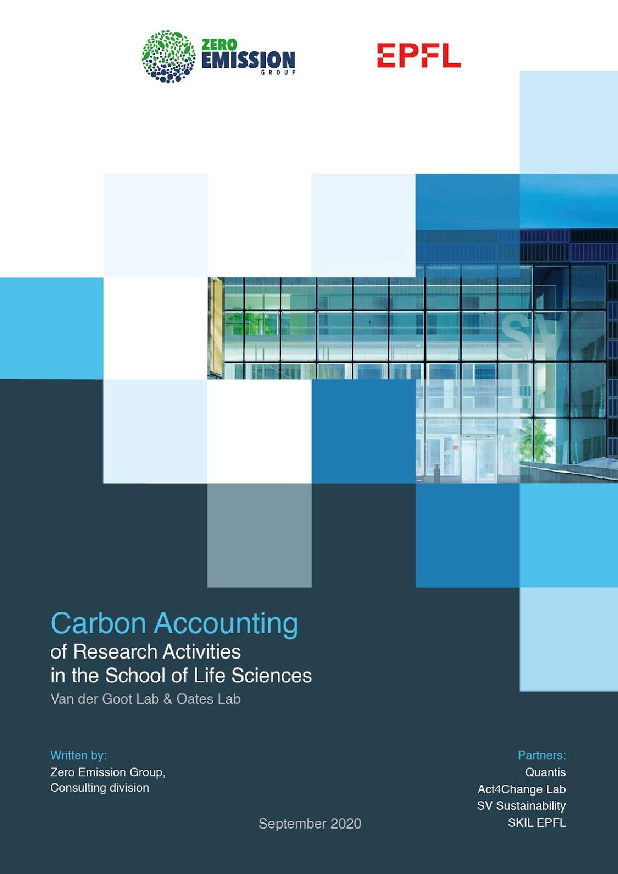 SV Faculty EPFL - Carbon Accounting Report - Full report