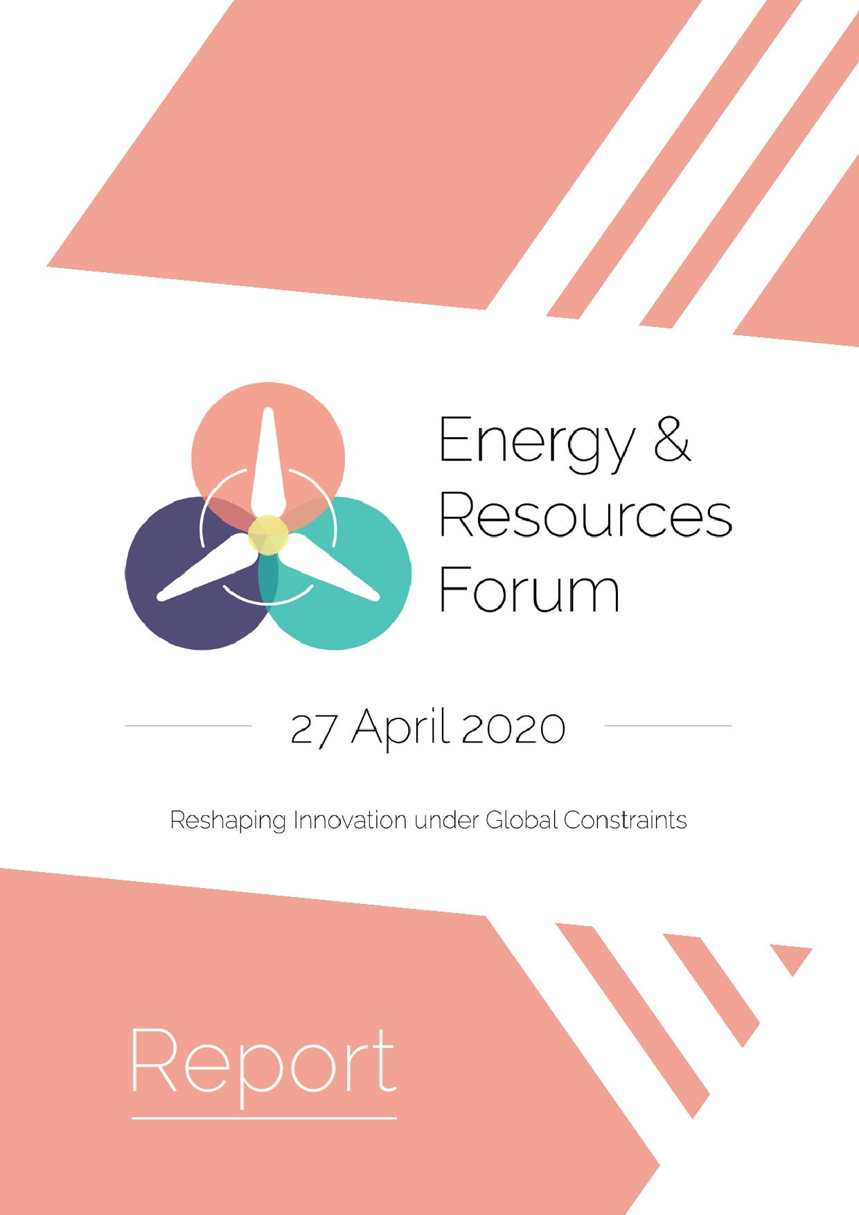 Energy & Resources Forum 2020 - Full Report