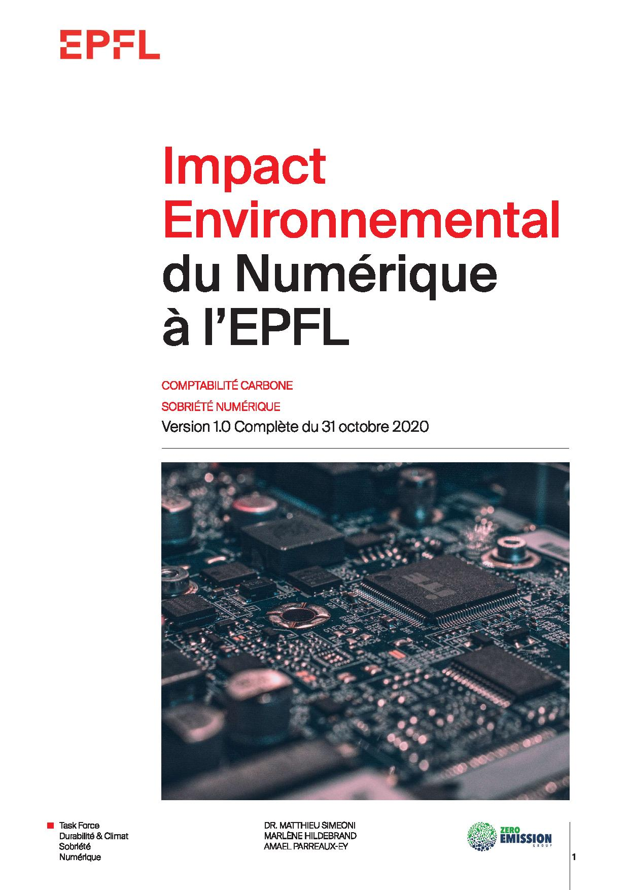 EPFL - Impact of Digital Activities - Full Report